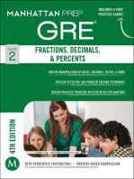 GRE Fractions, Decimals, & Percents