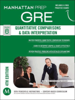 GRE Quantitative Comparisons & Data Interpretation