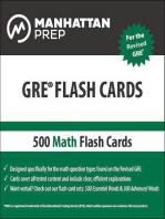500 GRE Math Flash Cards
