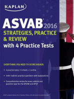 Kaplan ASVAB 2016 Strategies, Practice, and Review with 4 Practice Tests