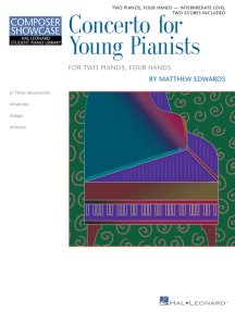 Concerto for Young Pianists: HLSPL Composer Showcase NFMC 2020-2024 Selection Intermediate Level