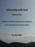 Fellowship With God (Volume One)