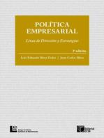 Política empresarial: Línea de dirección y estrategias.  2 edición
