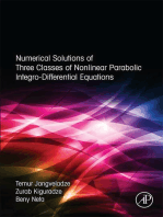 Numerical Solutions of Three Classes of Nonlinear Parabolic Integro-Differential Equations