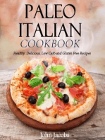 Paleo Italian Cookbook Healthy, Delicious, Low Carb and Gluten Free Recipes
