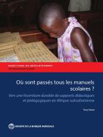 Où sont passés tous les manuels scolaires?: Vers une fourniture durable de supports didactiques et pédagogiques en Afrique subsaharienne