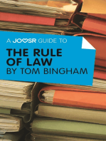 A Joosr Guide to... The Rule of Law by Tom Bingham