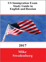 US Immigration Exam Study Guide in English and Russian