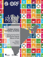 Global Goals, National Actions: Making the Post-2015 Development Agenda Relevant to India