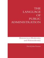 The Language of Public Administration