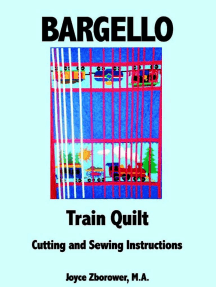 Bargello Train Quilt -- Cutting and Sewing Instructions: Crafts Series, #6