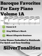 Baroque Favorites for Easy Piano Volume 1 A