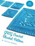 GREG Crochet Blanket Pattern US Version