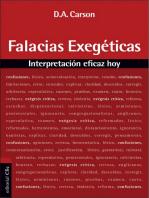 Falacias exegéticas: Interpretación eficaz hoy