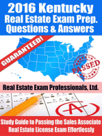 2016 Kentucky Real Estate Exam Prep Questions and Answers