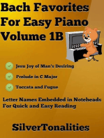 Bach Favorites for Easy Piano Volume 1 B