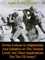 Soviet Actions In Afghanistan And Initiative At The Tactical Level