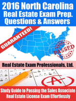 2016 North Carolina Real Estate Exam Prep Questions and Answers