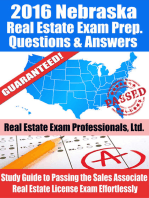 2016 Nebraska Real Estate Exam Prep Questions and Answers