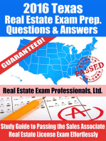 2016 Texas Real Estate Exam Prep Questions and Answers