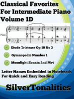 Classical Favorites for Easy Intermediate Piano Volume 1 D