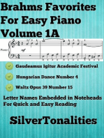 Brahms Favorites for Easy Piano Volume 1 A