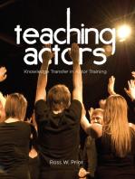 Teaching Actors