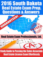 2016 South Dakota Real Estate Exam Prep Questions and Answers