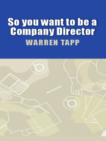 So You Want To Be A Company Director