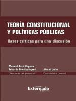 Teoría constitucional y políticas públicas. Bases críticas para una discusión
