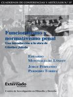 Funcionalismo y normativismo penal. Una introducción a la obra de Günther Jakobs