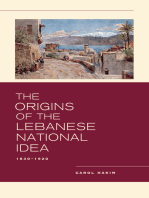 The Origins of the Lebanese National Idea
