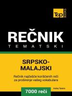 Srpsko-Malajski tematski rečnik: 7000 korisnih reči