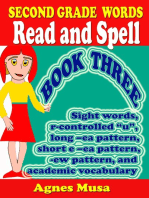 Second Grade Words Read And Spell Book three