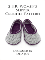 2 Hour Women's Slipper Crochet Pattern