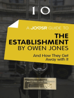 A Joosr Guide to… The Establishment by Owen Jones