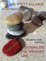 The Write Balance, Journaling the Writer's Life