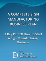 A Complete Sign Manufacturing Business Plan