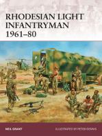 Rhodesian Light Infantryman 1961–80