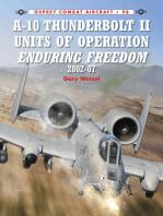 A-10 Thunderbolt II Units of Operation Enduring Freedom 2002-07