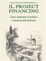 Il project financing come strumento di politica economica dell'ambiente