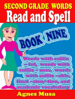 Second Grade Words Read And Spell Book Nine