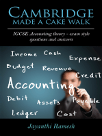 Cambridge Made a Cake Walk: IGCSE Accounting theory- exam style questions and answers