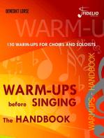 Warm-ups before singing