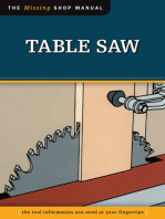 Table Saw (Missing Shop Manual)