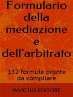 Formulario della mediazione e dell'arbitrato