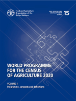 World Program of the Census of Agriculture 2020, Volume I