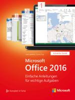 Microsoft Office 2016 (Microsoft Press): Einfache Anleitungen für wichtige Aufgaben