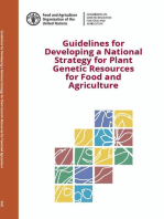 Guidelines For Developing a National Strategy for Plant Genetic Resources for Food and Agriculture