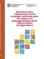 Directives pour l'élaboration d'une stratégie nationale pour les ressources phytogénétiques pour l'alimentation et l'agriculture